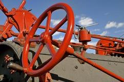 Toestellen, stuurwiel, en boiler van een teammotor Royalty-vrije Stock Afbeeldingen