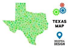 Toestellen Texas Map Collage vector illustratie
