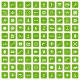 100 toestelpictogrammen geplaatst grunge groen Royalty-vrije Stock Foto