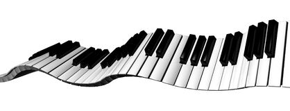 Toetsenbord 1 van de piano Royalty-vrije Stock Foto's