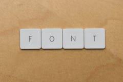 Toetsenbord brief-Doopvont Stock Afbeelding