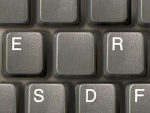 Toetsenbord (close-up) met één schone sleutel Royalty-vrije Stock Foto