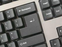 Toetsenbord - de sleutel gaat binnen, maakt schoon Stock Fotografie