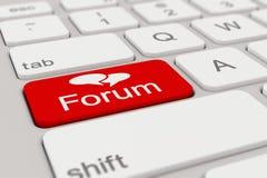 Toetsenbord - forum - rood Royalty-vrije Stock Foto