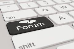 Toetsenbord - forum - zwarte Stock Fotografie