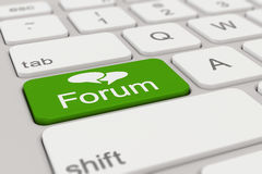 Toetsenbord - groen forum - Stock Foto's