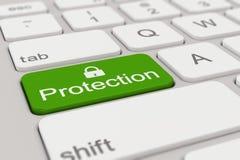 Toetsenbord - groene bescherming - Stock Afbeeldingen