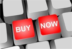 Toetsenbord - koop nu sleutels Stock Foto's