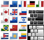 Toetsenbord met 17 verschillende sleutels Stock Foto's