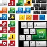 Toetsenbord met 24 verschillende sleutels royalty-vrije illustratie