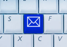 Toetsenbord met e-mail-sleutel Stock Foto