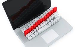 Toetsenbord met grafiek Royalty-vrije Stock Foto's