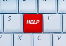Toetsenbord met hulp-sleutel Stock Foto