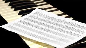 Toetsenbord met muziekblad Stock Foto
