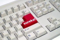 Toetsenbord met rode knoop Stock Afbeeldingen