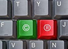 Toetsenbord met sleutels voor auteursrecht stock afbeelding