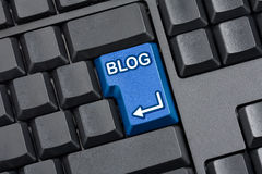 Toetsenbord van de blog het Zeer belangrijke Computer Stock Afbeeldingen
