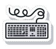 Toetsenbordcomputer geïsoleerd pictogram Royalty-vrije Stock Afbeeldingen