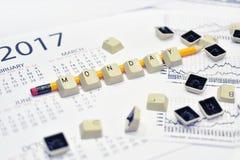 Toetsenbordknopen met potlood Stock Afbeelding