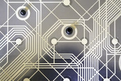 Toetsenbordmatrijs van een qwertytoetsenbord Stock Afbeeldingen