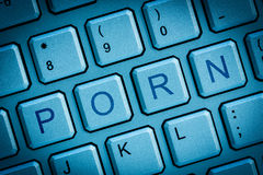 Toetsenbordpornografie Royalty-vrije Stock Afbeeldingen