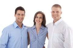 Toevallig commercieel teamportret Stock Foto