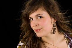 Toevallig meisjesportret Stock Foto