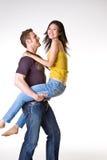 Toevallig romantisch paar Stock Foto's