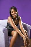 Toevallige Afrikaanse Amerikaanse tiener Royalty-vrije Stock Fotografie