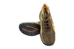 Toevallige bruine schoenen Stock Afbeeldingen