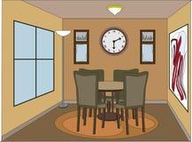 Toevallige dinning ruimte met accentstukken Stock Foto