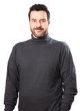 Taille op portret van een rijpe volwassen Kaukasische mens Stock Foto
