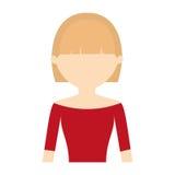 toevallige het portret van de karaktervrouw Royalty-vrije Stock Afbeeldingen