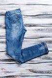 Toevallige jeans van blauwe kleur Royalty-vrije Stock Afbeelding