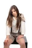 Toevallige jonge vrouw Stock Afbeelding