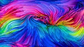 Toevallige Kleurrijke Verf stock illustratie
