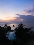 Toevlucht bij zonsondergang Royalty-vrije Stock Foto's