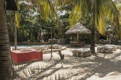 Toevluchthotel op het Eiland van Zanzibar royalty-vrije stock foto's