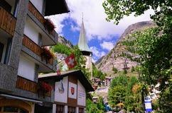 Toevluchtstad van Zermatt, Zwitserland Royalty-vrije Stock Foto