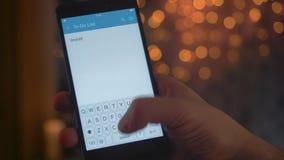 Toevoegend nieuwe taak aan aan-maken een lijst van app stock video