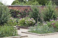 Toewijzing met fruitbomen, bloemen en kruiden Royalty-vrije Stock Afbeelding
