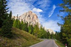 Tofana di Rozes, montagne di Dolomiti Immagine Stock