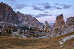 Tofana nelle alpi della dolomia Fotografie Stock