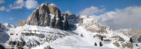 Tofane Grouppe, dAmpezzo Cortina в доломитах Стоковая Фотография