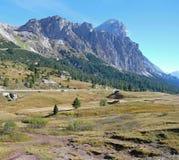 Tofane massiv från Passo Falzarego Royaltyfria Bilder