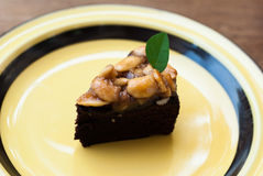 Toffee ξύλων καρυδιάς κέικ Στοκ Φωτογραφία