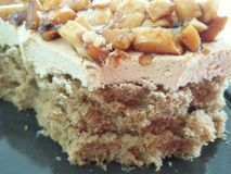 Toffee στενή επάνω λεπτομέρεια κέικ Στοκ Εικόνες