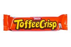 Toffee τραγανός φραγμός σοκολάτας Στοκ φωτογραφία με δικαίωμα ελεύθερης χρήσης