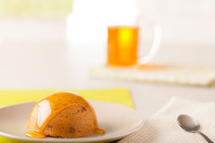 Toffee Bombe Pudding Stock Photos