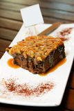 Toffee cake brownie Royalty Free Stock Image